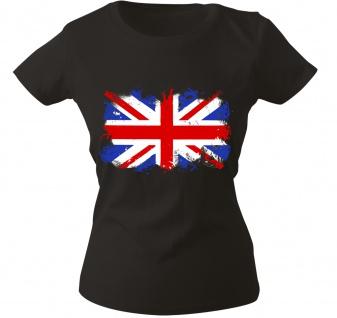 Girly-Shirt mit Print Flagge Fahne Union Jack Großbritannien G12122 Gr. schwarz / S