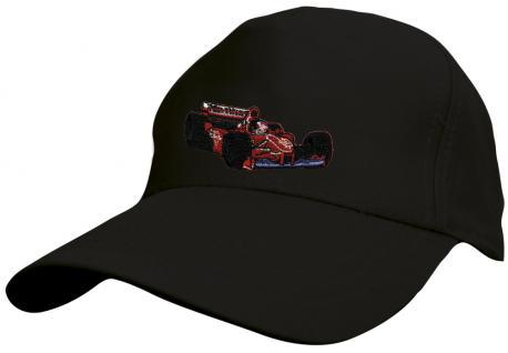 Kinder Baseballcap mit Stickmotiv - F1 Rennwagen - versch. Farben - 69126 schwarz
