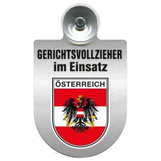Einsatzschild Windschutzscheibe incl. Saugnapf - Gerichtsvollzieher im Einsatz - 309744-20 - Region Österreich