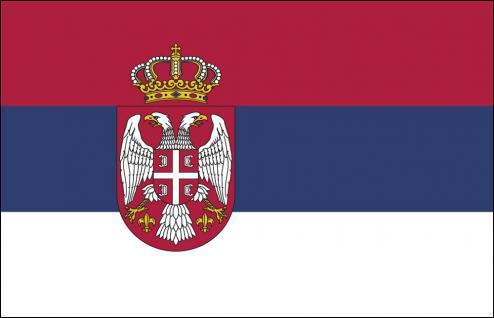 Stockländerfahne - Serbien - Gr. ca. 40x30cm - 77146 - Schwenkflagge mit Holzstock, Länderflagge, Fahne