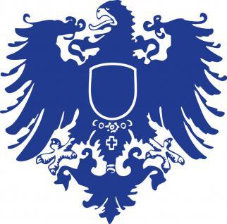 "(AP4097)PVC- Applikations- Aufkleber "" Wappen Preussen"" 25 cm groß in 7 Farben"