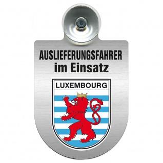 Einsatzschild Windschutzscheibe incl. Saugnapf - Auslieferungsfahrer im Einsatz - 309365 Region Luxembourg
