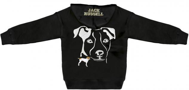 Kapuzenjacke mit Einstickung und Print ? Jack Russell - 132113 - 3XL
