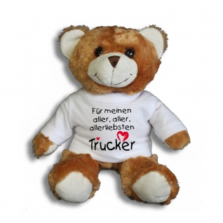 Teddybär mit T-Shirt - für meinen aller aller allerliebsten Trucker Gr. ca. 26 cm - 27010