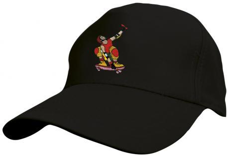 Kinder - Cap mit cooler Skater-Bestickung - Skateboard Skater - 69130-5 schwarz - Baumwollcap Baseballcap Hut Cap Schirmmütze