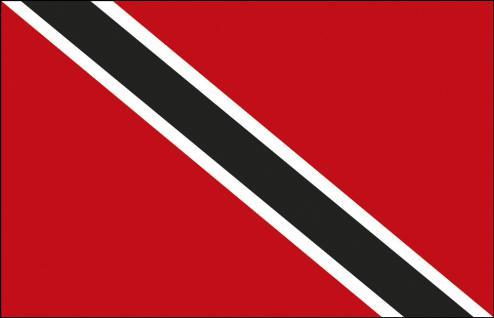Länder-Flagge - Trinidad und Tobago - Gr. ca. 40x30cm - 77170 - Hissflagge, Fahne, Stockländerfahne