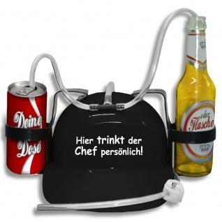 Trinkhelm Spaßhelm mit Print - Hier trinkt der Chef persönlich - 51660 schwarz