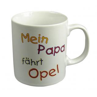 Tasse mit Print Mein Papa fährt... 57603 weiss