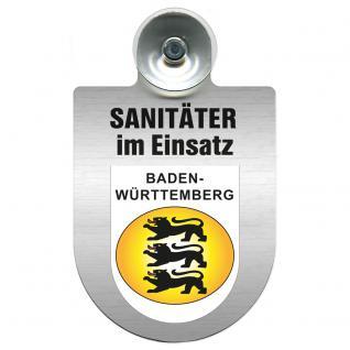 Einsatzschild Windschutzscheibe incl. Saugnapf - Sanitäter im Einsatz - 309396- Regionen nach Wahl Region Baden-Württemberg