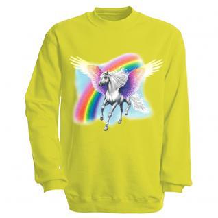 "Sweat- Shirt mit Motivdruck in 7 Farben "" Pegasus"" S12664 S / neon"