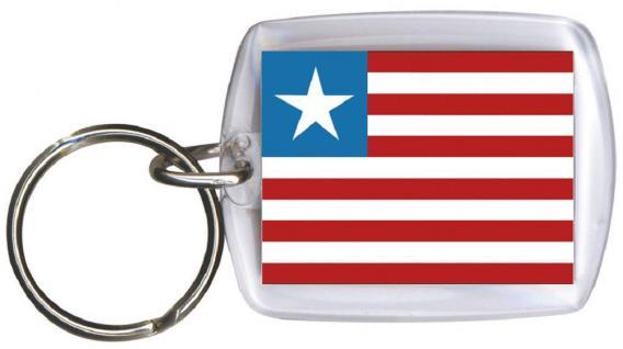 Schlüsselanhänger - LIBERIA - Gr. ca. 4x5cm - 81093 - WM Länder