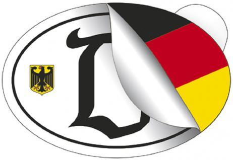 "Auto-Aufkleber Stick Applikation Emblem Aufkleber "" D = Deutschland"" NEU Gr. ca. 13 x 9cm (301047) Wappen Landeszeichen Flagge"