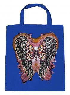 (U10807)Umweltfreundliche Baumwoll - Tasche , ca. 28 x 43 cm mit Aufdruck in 7 Farben blau
