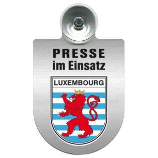 Einsatzschild Windschutzscheibe incl. Saugnapf - Presse im Einsatz - 309456-21 Region Luxembourg