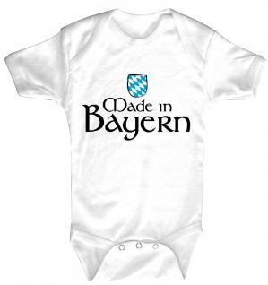 Babystrampler mit Print - Made in Bayern - 08326 weiß - 6-12 Monate