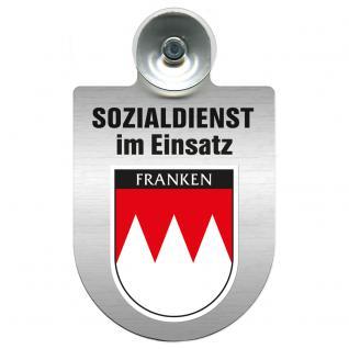 Einsatzschild Windschutzscheibe incl. Saugnapf - Sozialdienst im Einsatz - 309388-18 - Region Franken