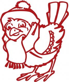Wandtattoo Dekorfolie Weihnachten Vogel WD0817 - rot / 120cm