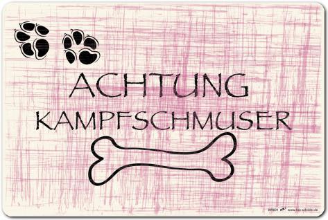 (309604) PST-SCHILD - ACHTUNG KAMPFSCHMUSER - Gr. ca. 30cm x 20cm - Kunststoff-Schild Hinweisschild