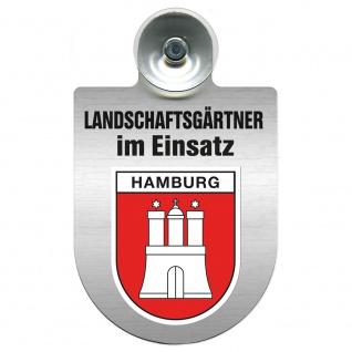 Einsatzschild Windschutzscheibe incl. Saugnapf -Landschaftsgärtner im Einsatz - 309375 - Region Hamburg
