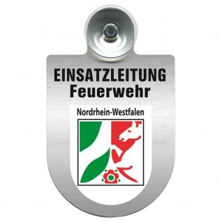 Einsatzschild Windschutzscheibe incl. Saugnapf - Einsatzleitung Feuerwehr - 309476 Region Nordrhein-Westfalen