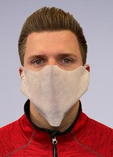 20x Einweg Mundmaske Behelfsmaske Community-Maske - Weiß