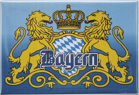 Kühlschrankmagnet - KRONE WAPPEN BAYERN - Gr. ca. 8 x 5, 5 cm - 38558 - Küchenmagnet