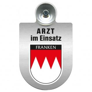 Einsatzschild Windschutzscheibe incl. Saugnapf - Arzt im Einsatz - 309352 Region Franken