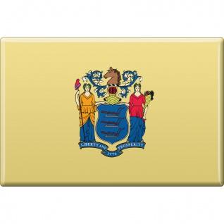 MAGNET - US-Bundesstaat New Jersey - Gr. ca. 8 x 5, 5 cm - 37130/1 - Magnet Küchenmagnet