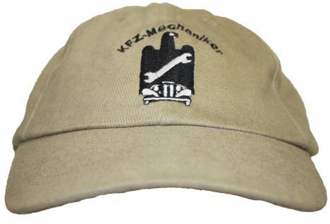 Cap mit zunftiger Einstickung Mechanik Beruf Zunft - Mechaniker - 68617 beige - Baseballcap Baumwollcap Cappy Kappe