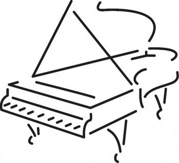 Aufkleber Applikation - Klavier - AP0665 - versch. Größen
