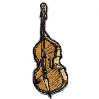 Aufnäher - Instrument Cello - 00351 - Gr. ca. 4 x 10, 5 cm - Patches Stick Applikation