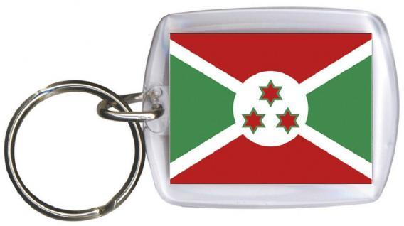 Schlüsselanhänger - BURUNDI - Gr. ca. 4x5cm - 81034 - Anhänger WM Länder