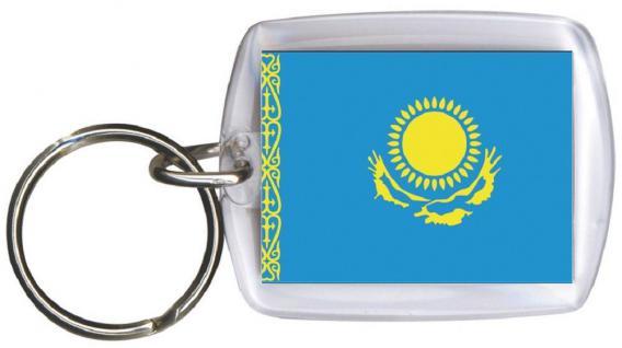 Schlüsselanhänger Anhänger - KASACHSTAN - Gr. ca. 4x5cm - 81079- WM Länder