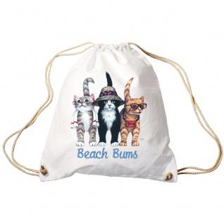 Sporttasche Turnbeutel Trend-Bag Print Cat Katze Strandkatzen Beach Bums - KA060/2