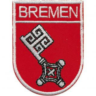 AUFNÄHER - Bremen - 00432 - Gr. ca 6 x 8 cm - Patches Stick Applikation