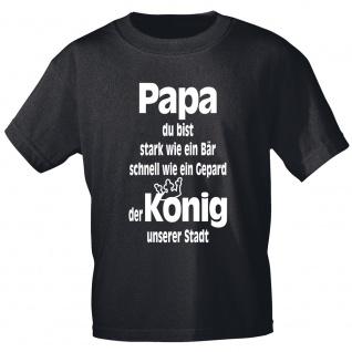 T-Shirt mit Print - Papa stark wie ein Bär..Gepard..König 12180 schwarz Gr. XXL