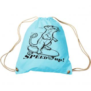 Trend-Bag mit Aufdruck - Speed up - 65047 - Turnbeutel Sporttasche Rucksack