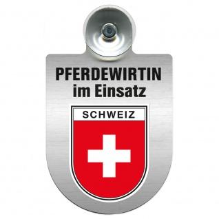 Einsatzschild Windschutzscheibe incl. Saugnapf - Pferdewirtin im Einsatz - 309735 - Region Schweiz