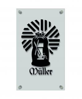 Zunftschild Handwerkerschild - Müller - beschriftet auf edler Acryl-Kunststoff-Platte ? 309433 schwarz