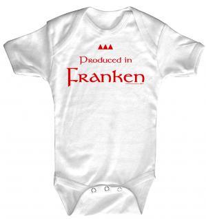Babystrampler mit Print - Produced in Franken - 08319 weiß - Gr. 0-24 Monate