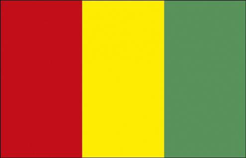 Autoscheiben-Flagge - Guinea - Gr. ca. 40x30cm - 78060 - Dekoflagge Autoländerfahne