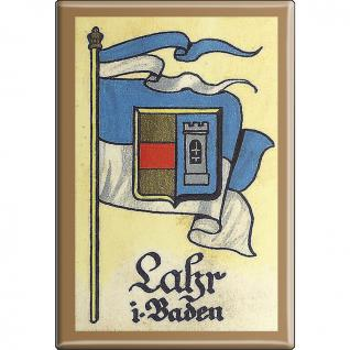 Küchenmagnet - Wappen Lahr - Gr. ca. 8 x 5, 5 cm - 37535 - Magnet Kühlschrankmagnet