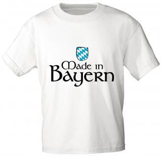 Kinder T-Shirt mit Aufdruck - Made in Bayern - 06940 - weiß - Gr. 110/116