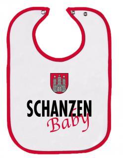 Babylätzchen mit Druckmotiv - Schanzenbaby - 08483