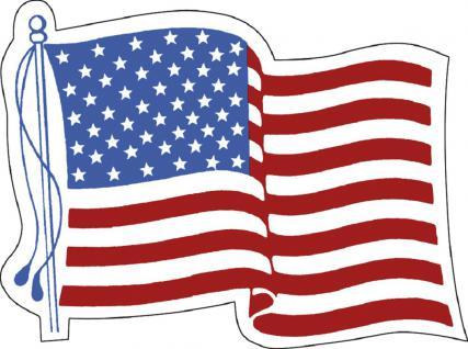 Aufkleber Autoaufkleber Länderfahne wehend - USA - 301362 - Gr. ca. 80mm x 60mm