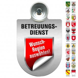 Einsatzschild Windschutzscheibe incl. Saugnapf - BETREUUNGSDIENST Region Luxembourg