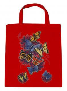 (U09842)Umweltfreundliche Baumwoll - Tasche , ca. 28 x 43 cm mit Aufdruck in 7 Farben rot