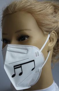 1x FFP2 Maske Deutsche Herstellung CE zertifiziert mit Aufdruck - Musiknote groß