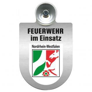 Einsatzschild Windschutzscheibe incl. Saugnapf - Feuerwehr im Einsatz - 309355 - Region Nordrhein-Westfalen