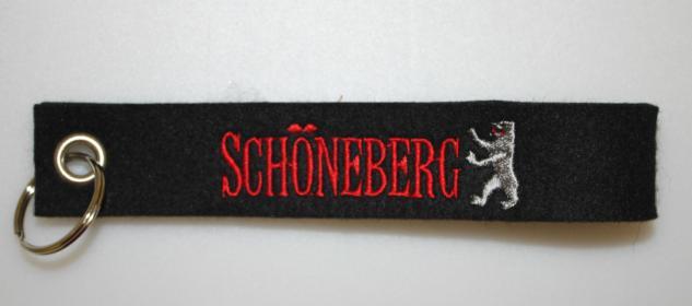 Filz-Schlüsselanhänger mit Stick - Schöneberg - Gr. ca. 17x3cm - 14302